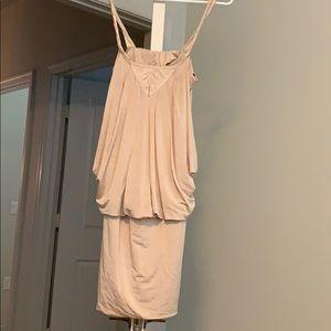 Cream/tan mini dress from Bebe